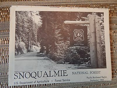 1959 Snoqualmie National Forest Map