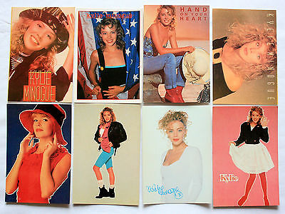 KYLIE MINOGUE POSTCARDS 8 x Vintage Kylie Postcards * Hand on your Heart *
