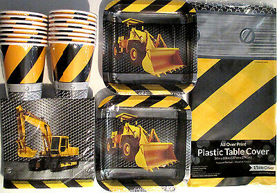 CONSTRUCTION ZONE - Birthday Party Supply Pack Kit Set 16