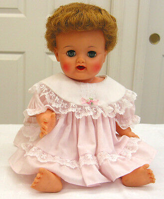 "EA156 Vintage Ideal Betsy Wetsy 16"" Doll 1959-1962 clean with really nice hair"