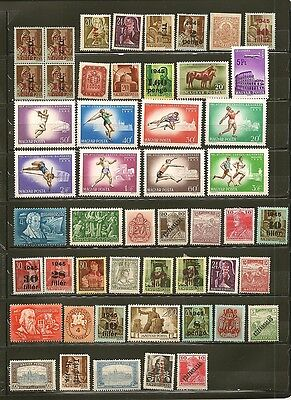 Hungary 47 Old Mint Stamps Most are Hinged