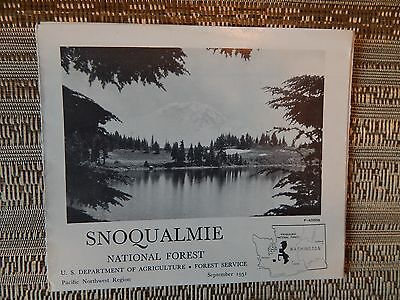 Vintage 1951 Snoqualmie National Forest Service Map