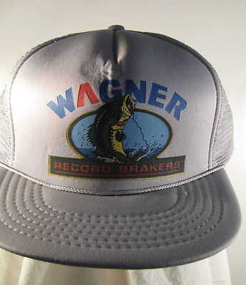 Wagner Record Brakers Trucker Hat Snap Closure Gray - NWOT