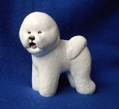 Bichon Frise Dog Figurine Ron Hevener Excellent Condition Signed!