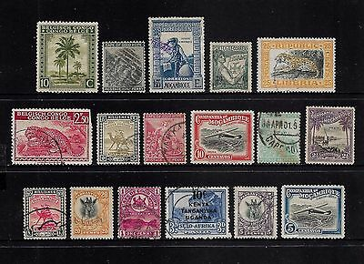 World - AFRICA, mixed collection No.20, early, Tanganyika, Mozambique + more