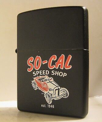 2000 Zippo So Cal Speed Shop Roadster Hot Rod Mint Unfired