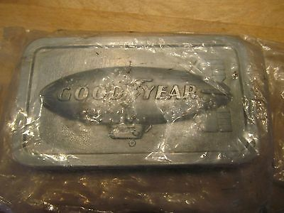 Goodyear Tire & Rubber Co Belt Buckle 1974 Advertising 3.5""