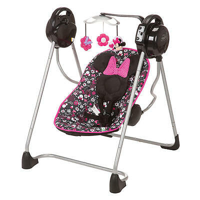 NEW Disney Floral Baby Swing Minnie Mouse 5-Pt Harness Infant up to 25 lbs.