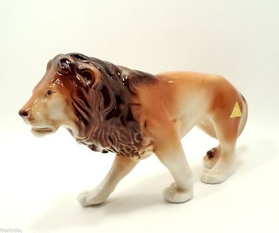 New Royal Dux African Lion Rare Detailed Figurine Nice!! Ships Free