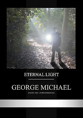 George Michael Tribute A4 Size Photo Poster 350GSM proffesional print- Charity