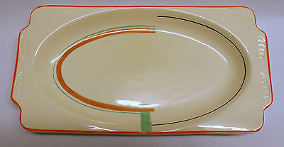 Stafforshire Art Deco Oblong Dish W133 with Staffordshire Knot Backstamp