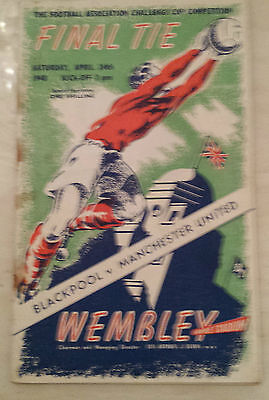 1948 FA CUP FINAL BLACKPOOL v. MANCHESTER UNITED