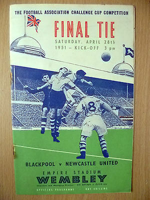 1951 FA CUP FINAL Official Programme- BLACKPOOL v NEWCASTLE UNITED at Wembley