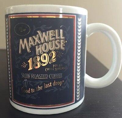 Maxwell House Slow Roasted Coffee Mug Cup Good to the last drop 1892