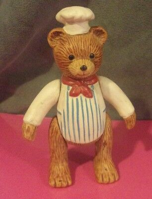 Russ Teddy Town Bears CHEF / Baker Porcelain Jointed Movable