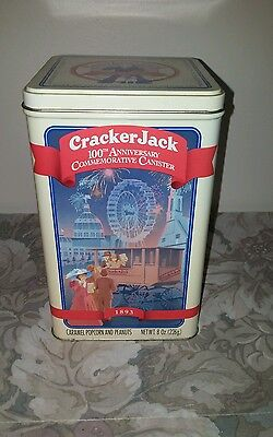 VTG Cracker Jack 100th Anniversary Commerative Canister