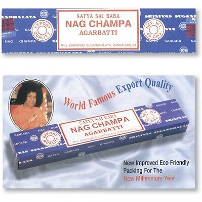 Genuine FRESH 2019 STOCK Satya Sai Baba Nag Champa Incense 12 Pack