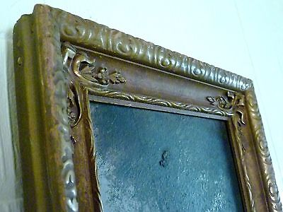 "26"" X 7"" VICTORIAN Antique LONG NARROW Carved Wood PICTURE FRAME w/ OIL PAINTING"