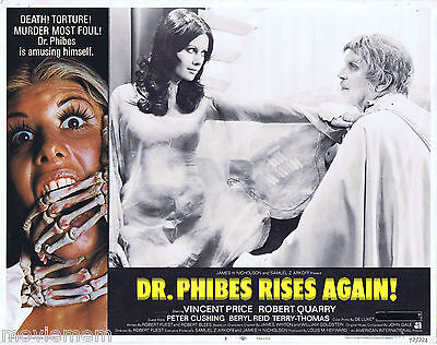 DR PHIBES RISES AGAIN 1972 Vincent Price US Lobby Card 3