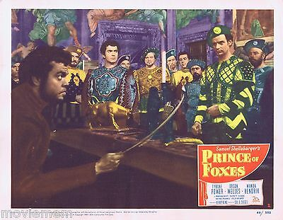 PRINCE OF FOXES 1949 Lobby Card 2 Tyrone Power Orson Welles