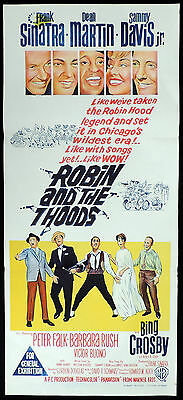 ROBIN AND THE SEVEN HOODS Original Daybill Movie Poster Frank Sinatra 7