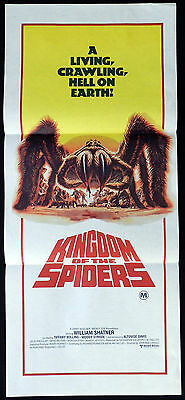 KINGDOM OF THE SPIDERS 1977 William Shatner Sci Fi VINTAGE Daybill Movie poster