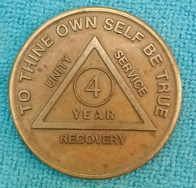 Vintage AA Medallion FOUR YEAR Recovery