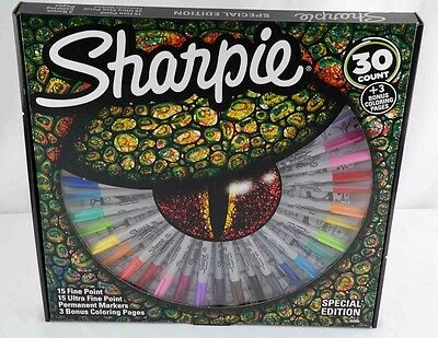 Sharpie Special edition 30 count kit w 3 coloring pages