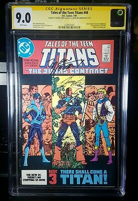 Tales of the Teen Titans #44 CGC 9.0 Signed by Wolfman & Perez 1st Nightwing Hot
