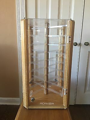 REDUCED:Large Countertop Rotating Acrylic Jewelry Display Case~Earring/Necklace