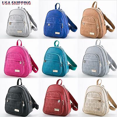Women Fashion Bags Leather Backpack School Bag Travel Satchel Shoulder Rucksack