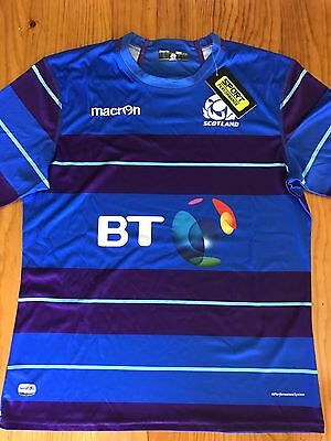 2016/17 Scotland Rugby Union Macron Training Shirt Size L BNWT
