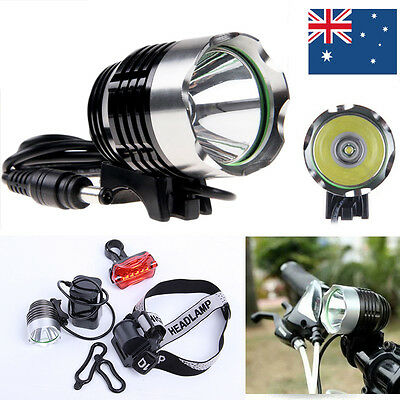 1800LM CREE XML T6 Mountain Bike Bicycle Head Light Lamp Torch USB Rechargeable
