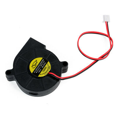 New 12V DC 50mm Blow Radial Cooling Fan For Hotend / Extruder RepRap 3D Printer