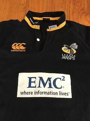 London Wasps Rugby Union Jersey Canterbury Brand Size L