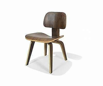 Nicer Furniture ™ Eames inspired DCW Modern Dining Chair Side Chair in Walnut