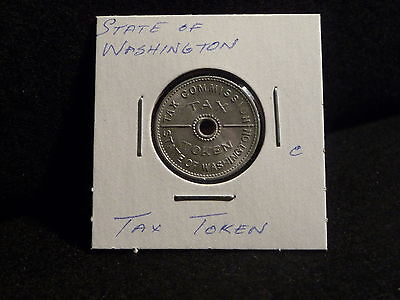 1935  STATE of WASHINGTON  TAX TOKEN  10CENTS OR LESS   (EF)  (#14)