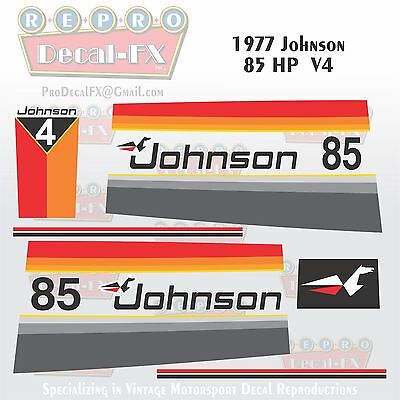 1982 Johnson 25 HP Sea-Horse Outboard Reproduction 14 Piece Marine Vinyl Decals