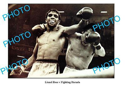 LIONEL ROSE AUSTRALIAN BOXING LEGEND A3 PHOTO v HARADA
