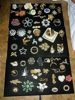 Large Mixed Lot Costume Fashion Jewelry Brooches Lenox Sparkle