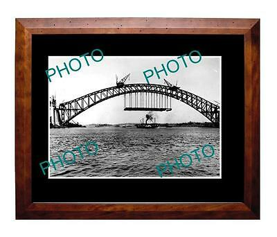 Sydney Harbour Bridge 1930 Contruction Large A3 Photo 1