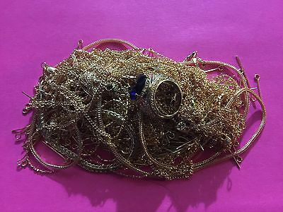 173.7g MIX OF 24k SCRAP GOLD FILLED / PLATED JEWELRY AND PINS