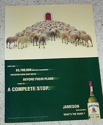 1999 print ad - Jameson Irish Whiskey SHEEP advertising vintage 1-page ADVERT