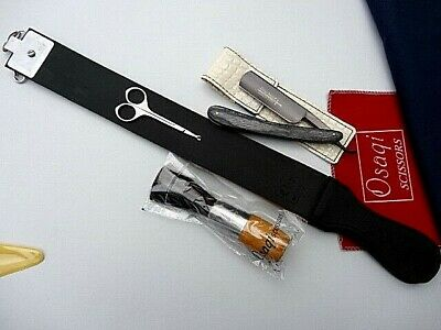 Expensive Cow Leather  sharping Strop Belt with Barber Cut Throat  Razor