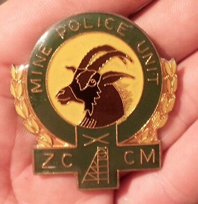 Obsolete Zambia Consolidated Copper Mines Mine Police Unit Hat Cap Badge