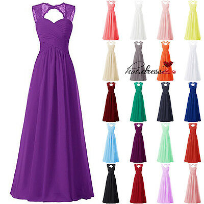 New STOCK Lace Formal Prom Party Ball Gown Evening Wedding Bridesmaid Dress 6-20