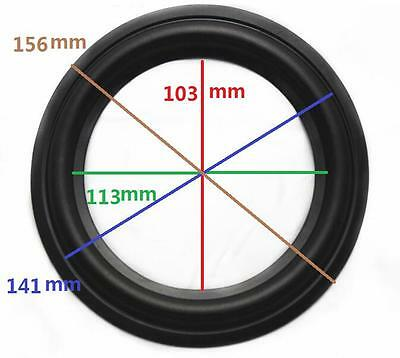 """High Quality 6"""" 6inch 156mm Speaker Surround Repair Rubber Edge Replacement"""
