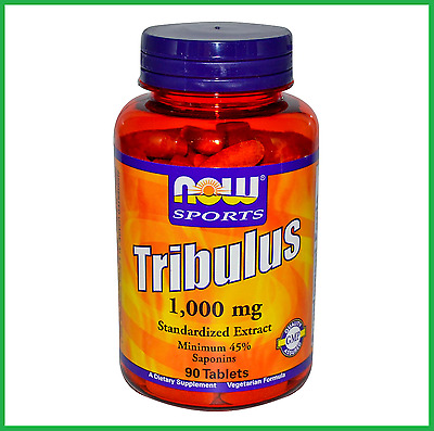 Tribulus 1000mg 90 Tablets by NOW Sports HIGH POTENCY, Standardized Icariin AUS
