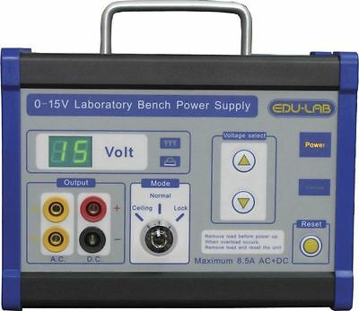 Edulab Power pack 0-15V 8.5A very good condition RRP £125