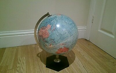 "VINTAGE LARGE REPLOGLE WORLD GLOBE EARLY 1970,s 38"" CIRCUMFERENCE DANISH"